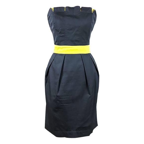 Dresses & Skirts - Gray and Lime Strapless Dress